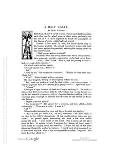 Thumbnail of the first page of the facsimile for A Half Caste.