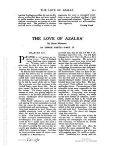 Thumbnail of the first page of the facsimile for The Love of Azalea (Part 3).