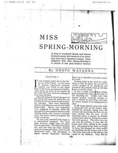 Thumbnail of the first page of the facsimile for Miss Spring-Morning.