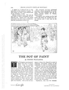 Thumbnail of the first page of the facsimile for The Pot of Paint.
