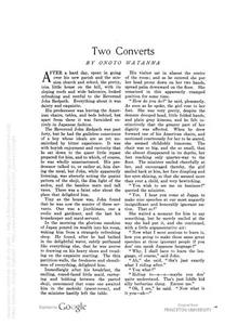 Thumbnail of the first page of the facsimile for Two Converts.