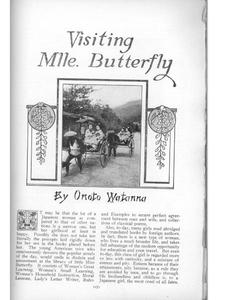 Thumbnail of the first page of the facsimile for Visiting Mlle. Butterfly.