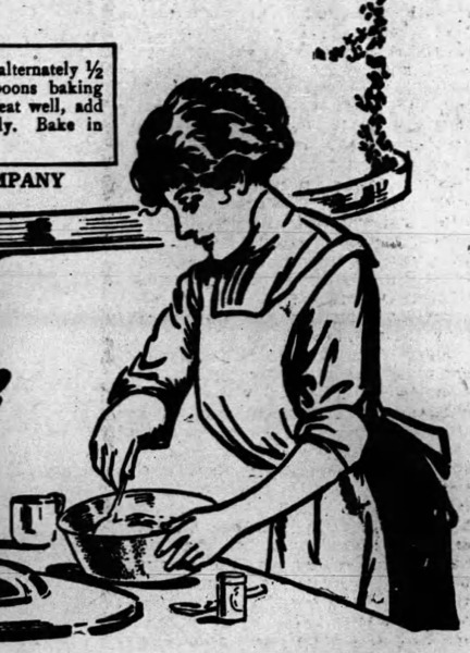 Illustration of woman cooking to denote no facsimile available